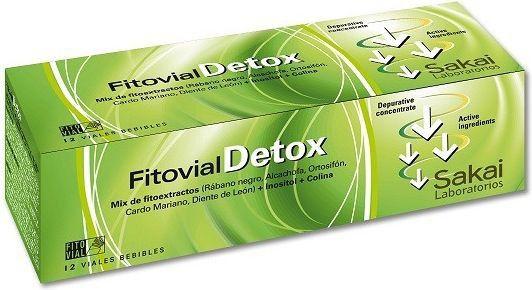 Sakai Fitovial Detox 12 viales
