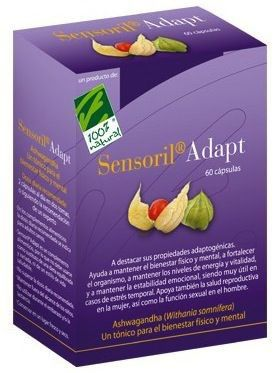 100% Natural Sensoril Adapt 60 cápsulas