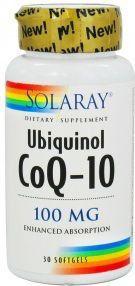 Solaray Ubiquinol CoQ-10 100mg 30 cápsulas