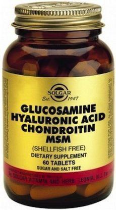 Solgar Glucosamina Ácido Hialurónico Condroitina MSM 60 cápsulas
