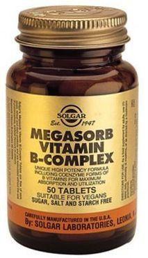 Solgar Megasorb B-Complex 50 50 comprimidos