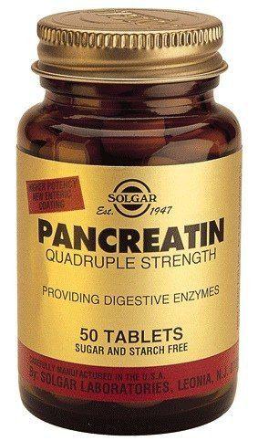 Solgar Pancreatin 50 comprimidos