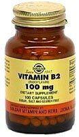 Solgar Vitamina B2 - Riboflavina 100mg 100 capsulas