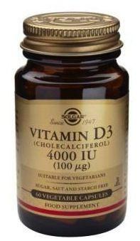 Solgar Vitamina D3 4000 UI 60 cápsulas