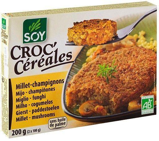 Soy Croc Cereales Mijo y Champiñones Bio 2x100g