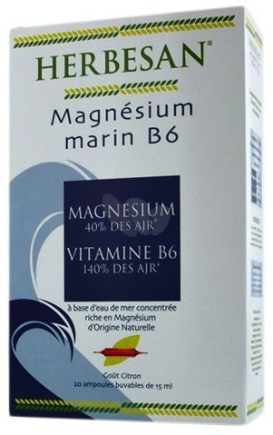 Super Diet Herbesan Magnesio Marino y Vitamina B6 30 comprimidos