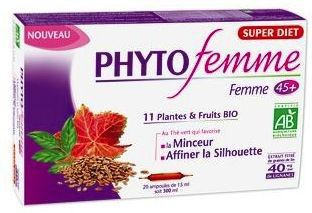 Super Diet Phytofemme Adelgazamiento +45 años Bio 20 ampollas