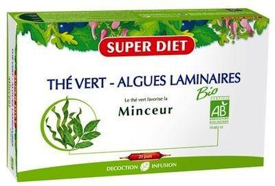 Super Diet Te Verde y Algas Laminarias 20 ampollas
