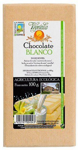 Vegetalia Chocolate Blanco Bio 100g
