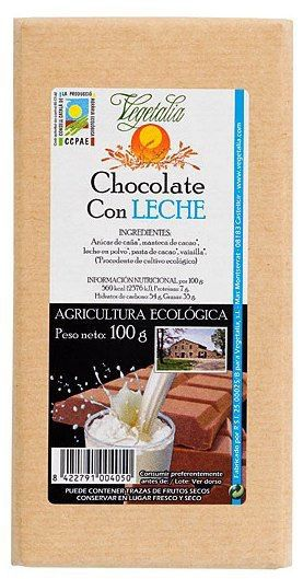 Vegetalia Chocolate con Leche Bio 100g