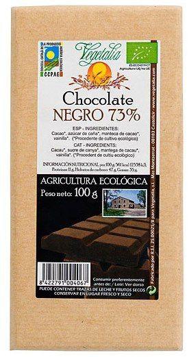 Vegetalia Chocolate Negro 73% Bio 100g