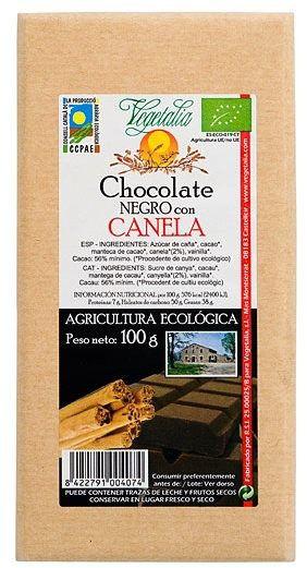 Vegetalia Chocolate Negro con Canela Bio 100g