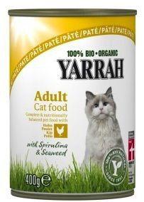 Yarrah Comida en Lata para Gatos con Pollo Bio 400g