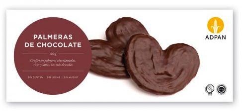 Adpan Palmeras de Chocolate Sin Glúten Sin Leche y Sin Huevo 100g