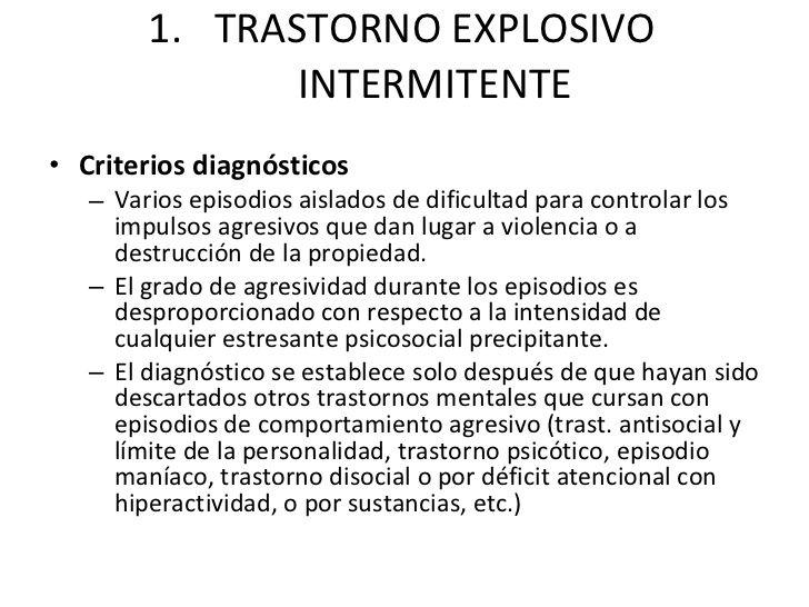 El trastorno explosivo intermitente1
