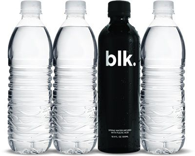 black mineral water