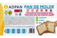 Adpan Pan de Molde Sin Glúten Sin Leche y Sin Huevo 260g