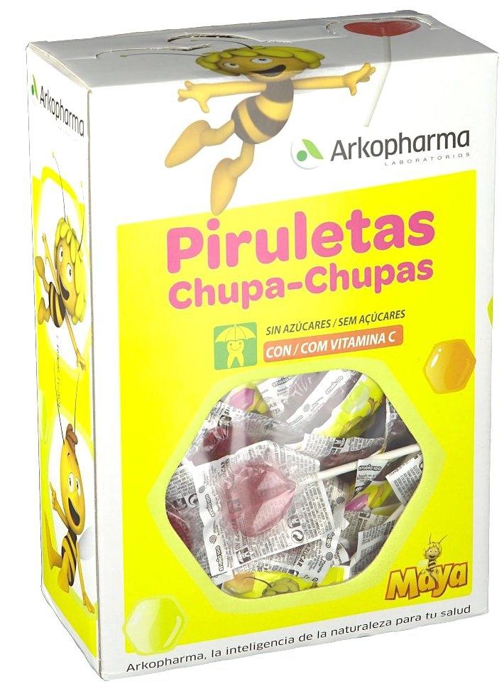 Arkoreal Piruleta Abeja Maya Sin Azúcar con Vitamina C 200 unidades