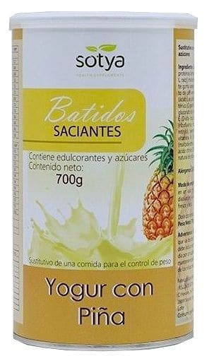 Sotya Batido Saciante yogur con piña 700g