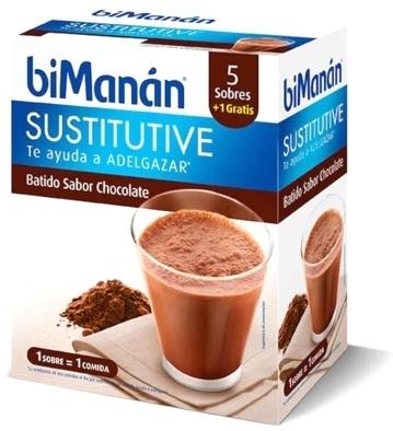 Bimanan Batido Sustitutivo Chocolate 6 Sobres