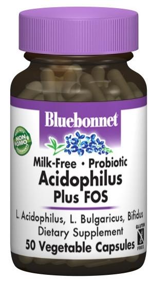 Bluebonnet Milk Free Acidophilus Plus Fos 50 cápsulas