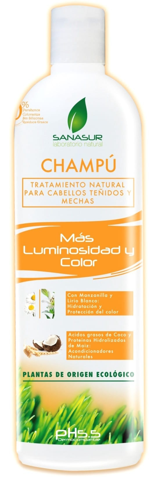 Sanasur Champú Natural Luminosidad y Color 500ml