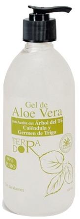 Derbos Gel Aloe Vera con aceite de arbol del té, calendula y germen de trigo 500ml