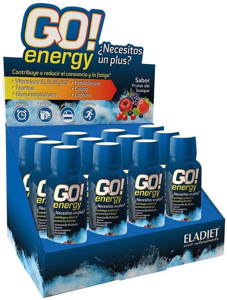 Eladiet Go Energy 30ml. Caja de 12 unidades