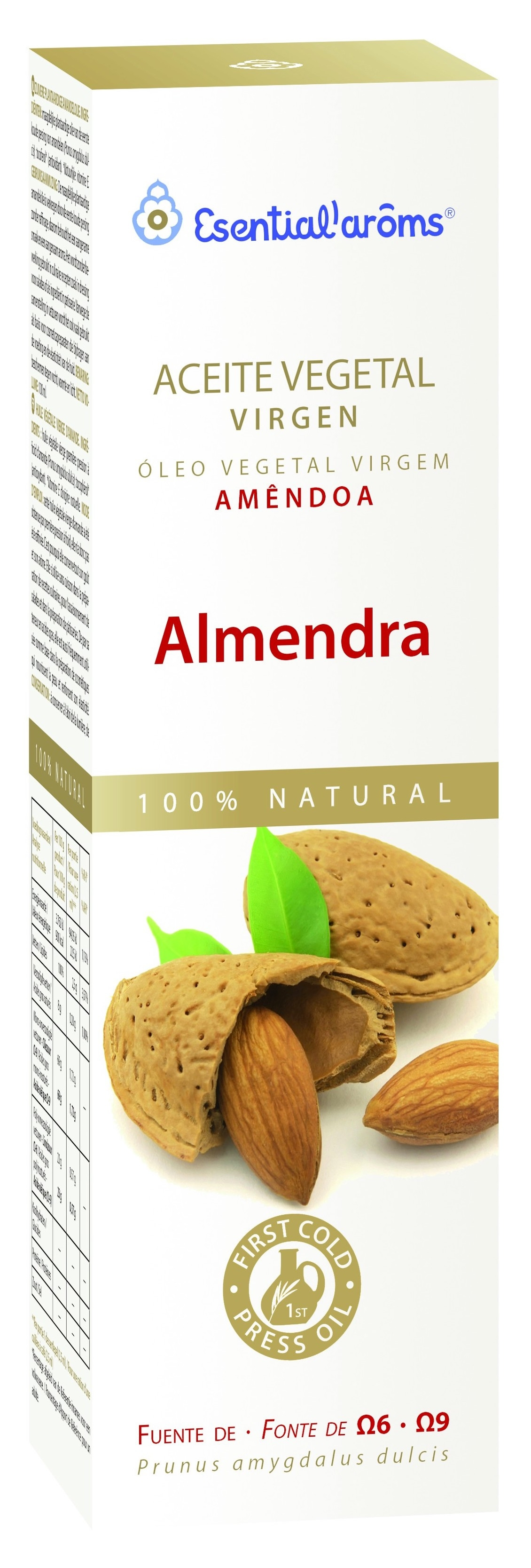 Esentials Aroms Almendra Dulce Aceite Vegetal 100ml