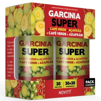 Novity Garcinia Super + Café Verde + Azafrán Super 30+30 comprimidos