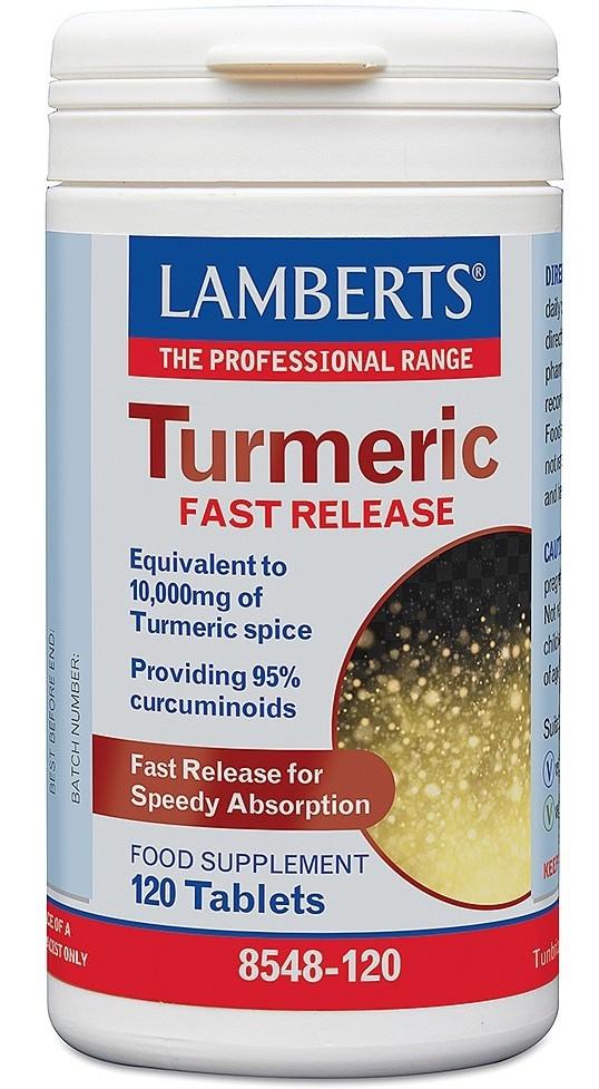 Lamberts curcuma 10000mg de liberación rápida 120 comprimidos