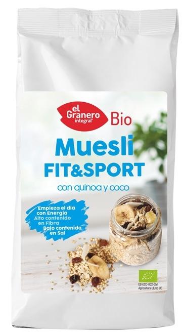 El Granero Integral Muesli Fit & Sport con quinoa y coco Bio 500g