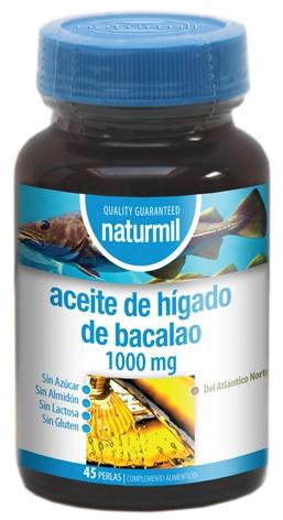 Naturmil Aceite de Hígado de Bacalao 400mg 45 perlas