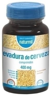 Naturmil Levadura de Cerveza 400mg 360+120 comprimidos