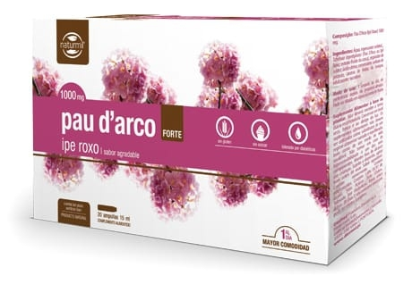 Naturmil Pau D' Arco Forte 1000mg 20 ampollas