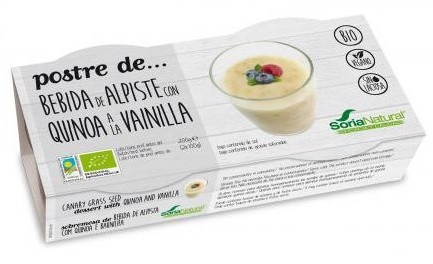 Soria Natural Postre de Alpiste con Quinoa a la Vainilla 2 unidades de 100gr