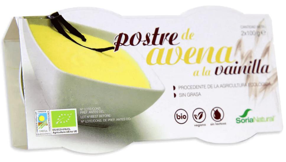Soria Natural Postre de Avena a la Vainilla 2 unidades de 100gr