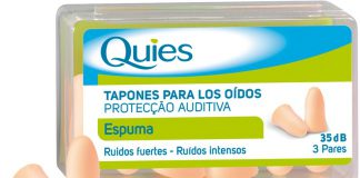 quies_tapones_espuma_color_carne_6uds