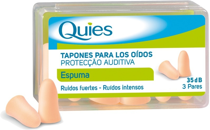 Quies Tapones Espuma Color Carne 6uds