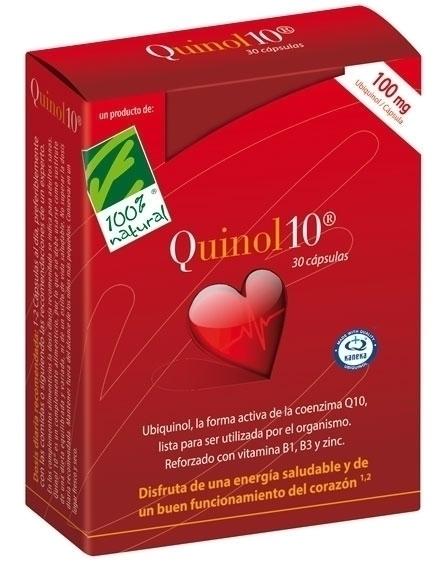 100% Natural Quinol10 100mg 30 cápsulas