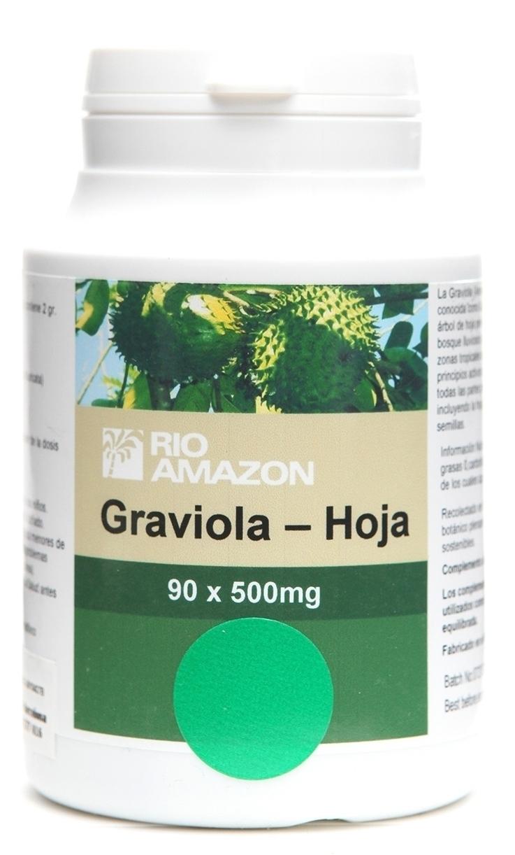 Rio Amazon Graviola Hoja 500mg 90 cápsulas