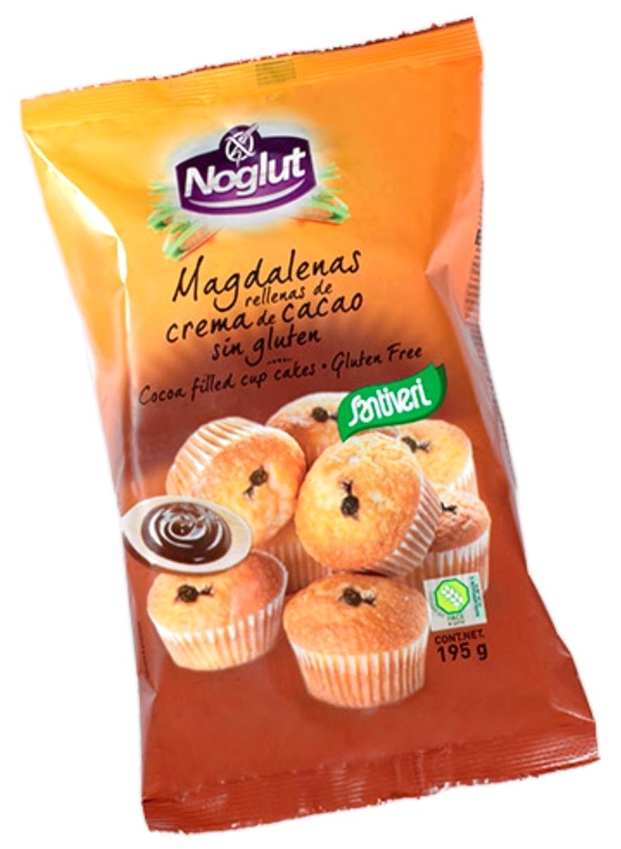 Santiveri Magdalenas Sin Gluten Rellenas de Chocolate 170gr