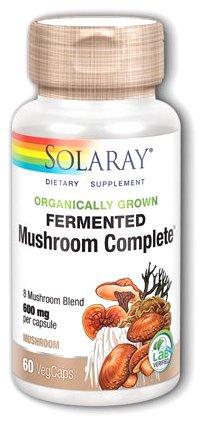 Solaray Fermented Mushroom Complete 60 cápsulas vegetales