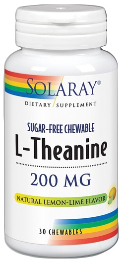Solaray L-Theanine 200mg 30 comprimidos sublinguales