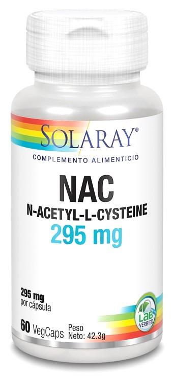 Solaray NAC 295mg 60 cápsulas vegetales