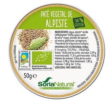 Soria Natural Paté de Alpiste 50gr