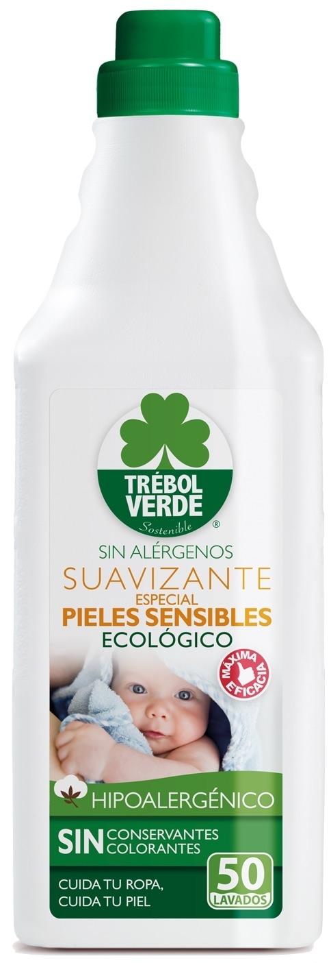 Trebol Verde Suavizante Pieles Sensibles Hipoalergenico Ecológico 1L