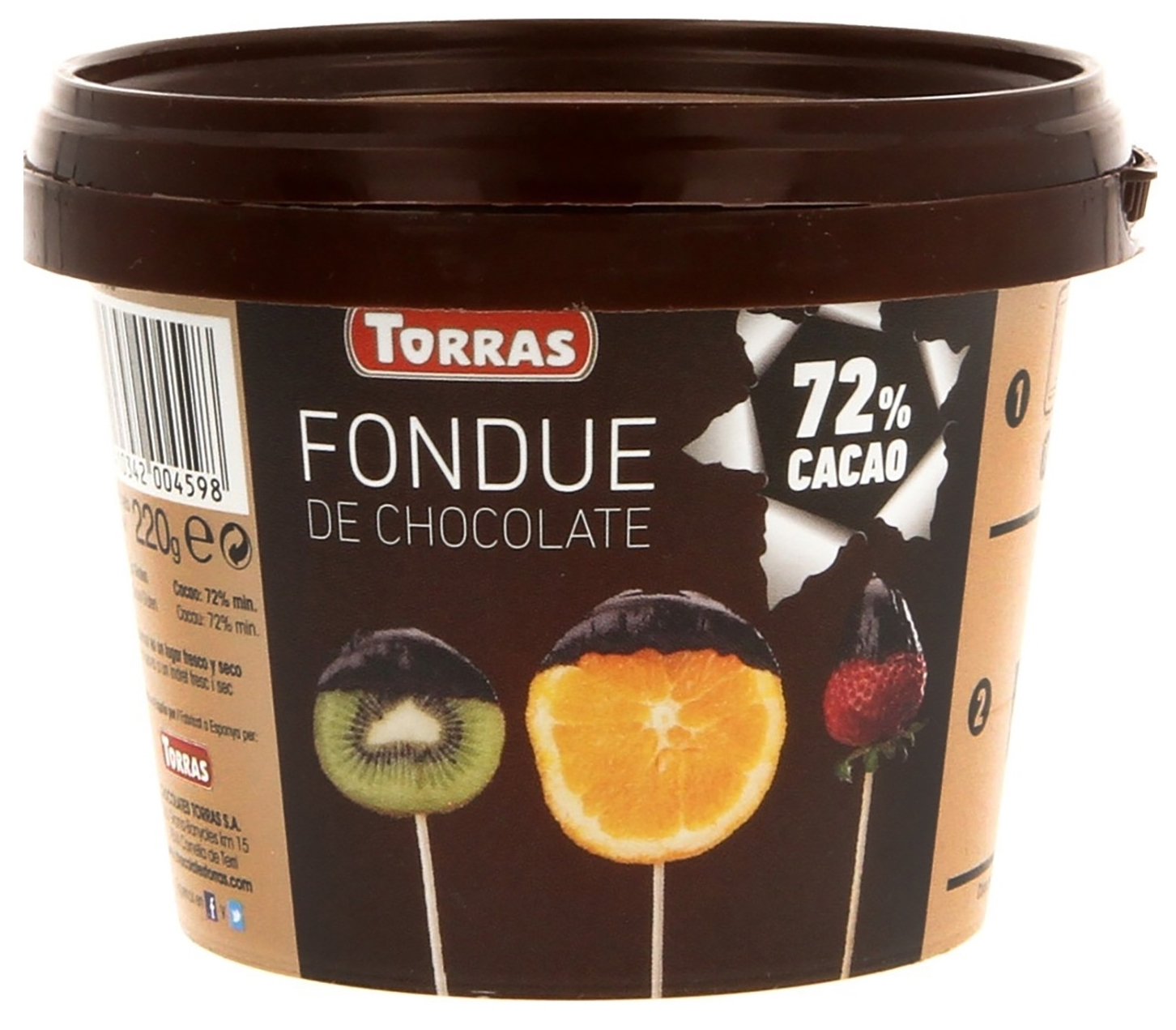 Torras Fondue de chocolate 70% cacao 220g
