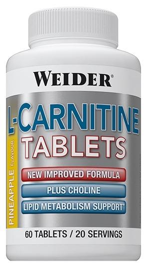 Weider L-Carnitina Sabor Piña 60 comprimidos masticables