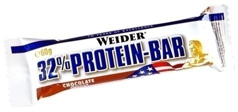 Weider Protein 32% Barritas Sabor Chocolate. Caja de 24 unidades